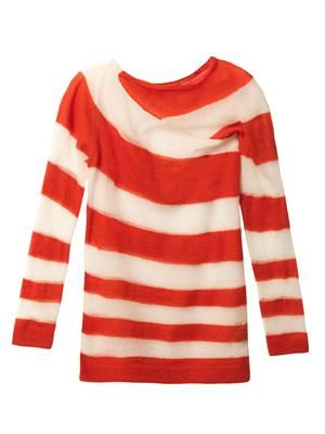 Oil stripe mohair-blend sweater