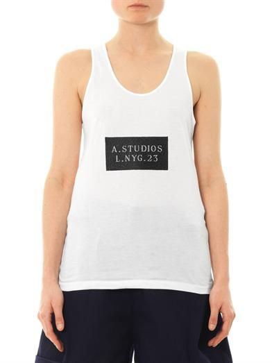 Acne Studios Zaar logo-embroidered tank