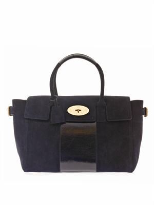 Bayswater Buckle suede tote