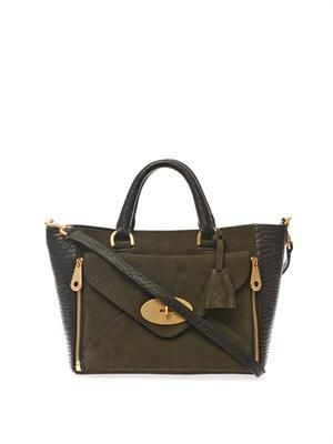 Willow leather and suede tote