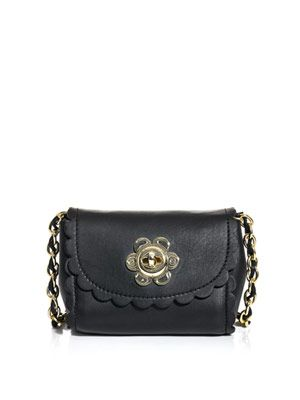 Flower lock cross-body bag