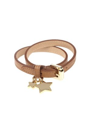 Double wrap star charm bracelet