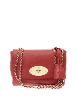 Lily leather shoulder ba
