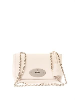 Lily leather shoulder bag