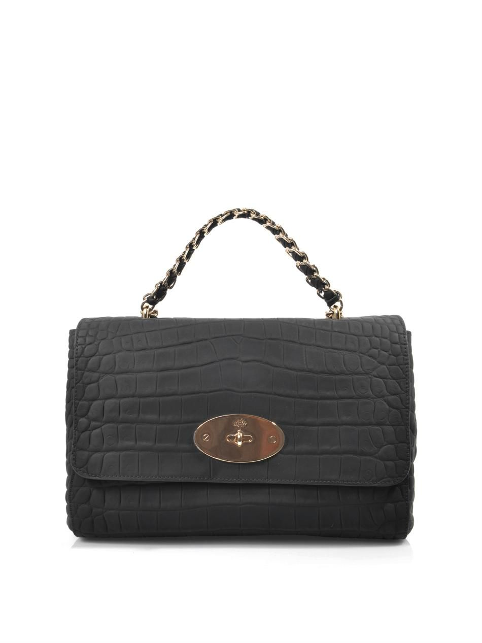 Cecily embossed-leather shoulder bag