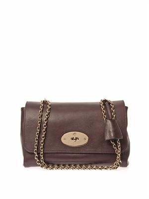 Lily medium leather shoulder bag