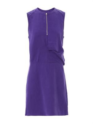 Twist fluid sleeveless dress