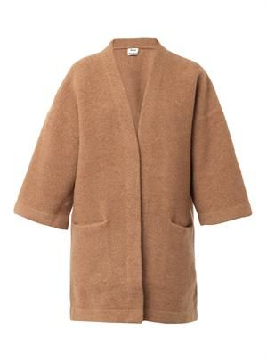 Denice boiled-wool cardigan