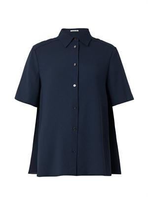 Lou short-sleeved crepe shirt