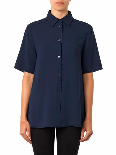 Acne Studios Lou short-sleeved crepe shirt