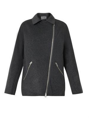 Envier wool cashmere-blend biker jacket