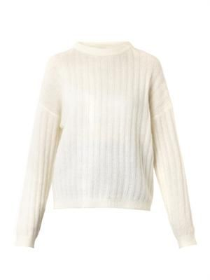 Dramatic ribbed-knit sweater