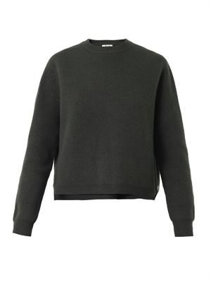Misty boiled-wool sweater
