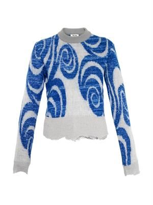 Gaze psychedelic-jacquard sweater