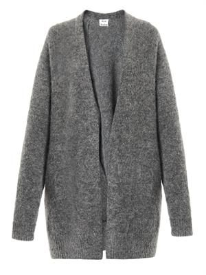Raya Short mohair-blend cardigan