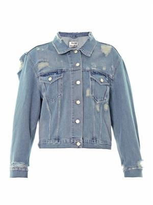 Tram distressed denim jacket