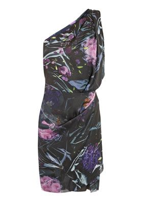 Elaine asymmetric bouquet-print dress