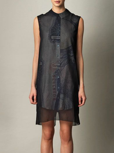Acne Studios Piece bills overlay dress