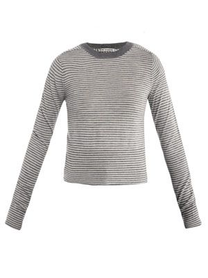Lia stripe-print cashmere sweater