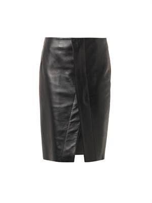 Kay leather pencil skirt