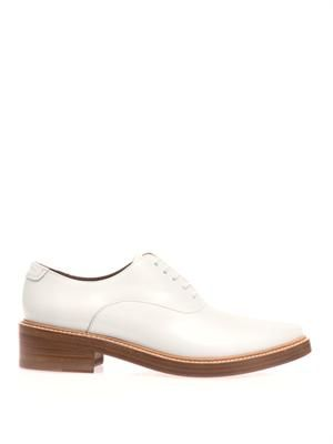 Carla point-toe lace-up shoes