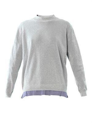 Mysti lurex frill hem sweater