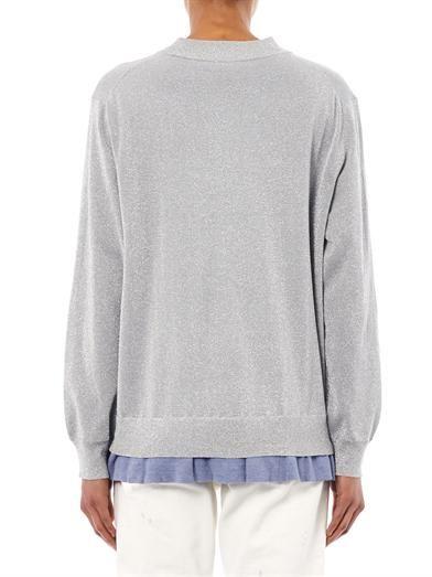 Acne Studios Mysti lurex frill hem sweater