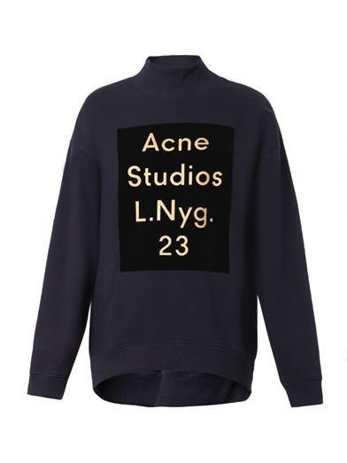 Acne Studios Beta flocked-logo sweatshirt
