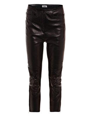 Dust leather moto trousers