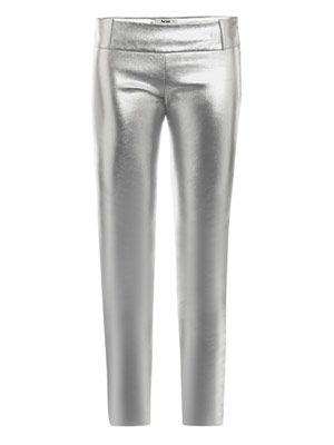 Best-Hip metallic leather trousers