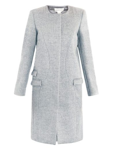 Antonio Berardi Bi-colour collarless coat
