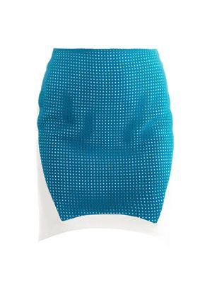 Perforated panel skirt