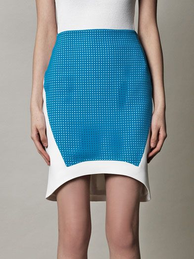 Antonio Berardi Perforated panel skirt