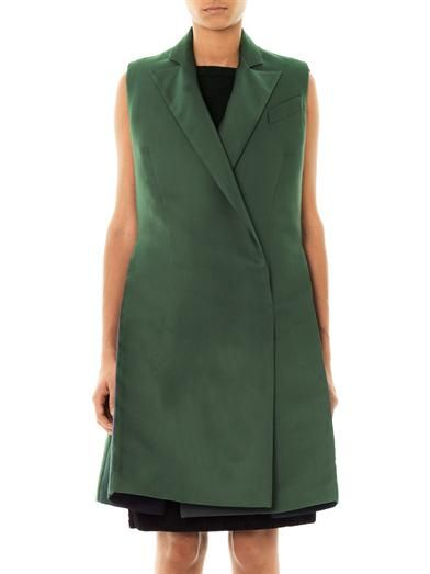 Antonio Berardi Double-breasted duchess-satin coat