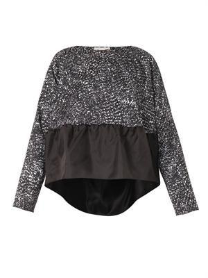 Ruffle-hem blouse