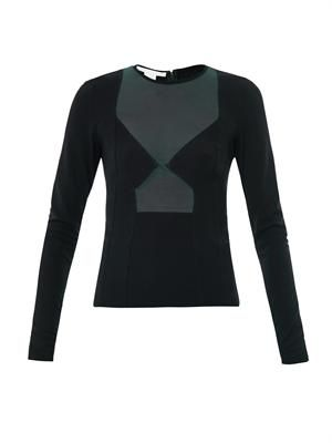 Power mesh long sleeve top