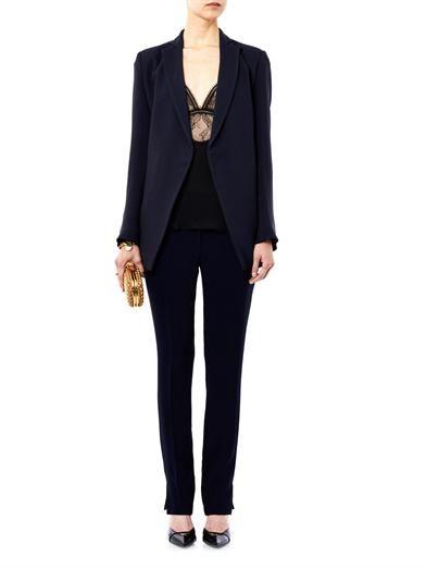 Antonio Berardi Double-layer front crepe blazer