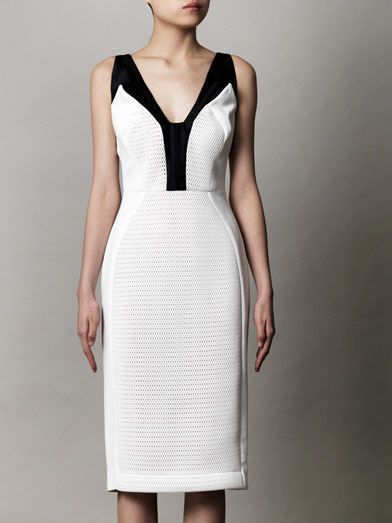 Antonio Berardi Mesh front body-con dress