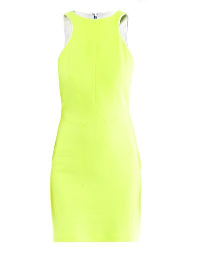 Antonio Berardi Neon panel body-con dress