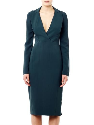 Antonio Berardi Wrap front cady dress