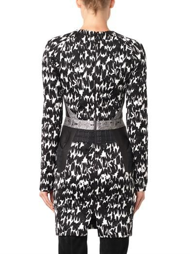 Antonio Berardi Multi-panel jacquard dress