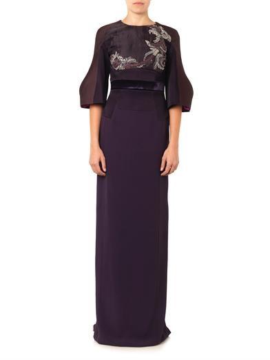 Antonio Berardi Embellished crepe gown