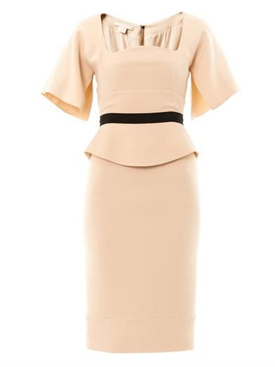 Antonio Berardi Nude-crepe tailored dress