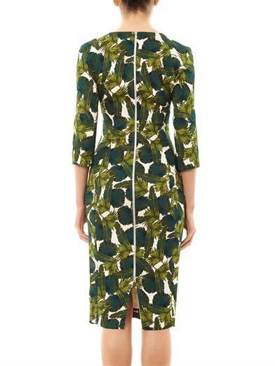 Antonio Berardi Forest-print fitted dress