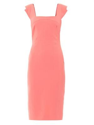 Sleeveless square-neck dress