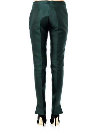 Antonio Berardi Duchess silk skinny trousers