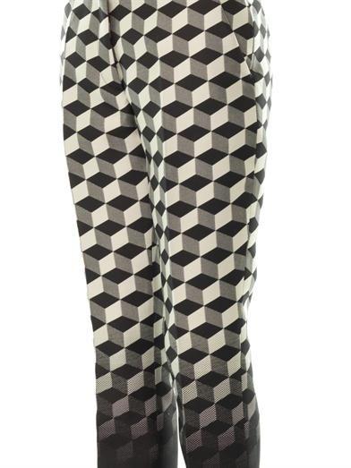 Antonio Berardi Ombré cube-jacquard trousers