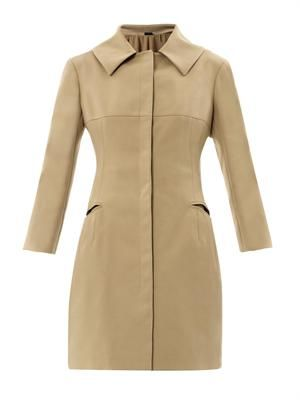 Tailored cotton-twill coat