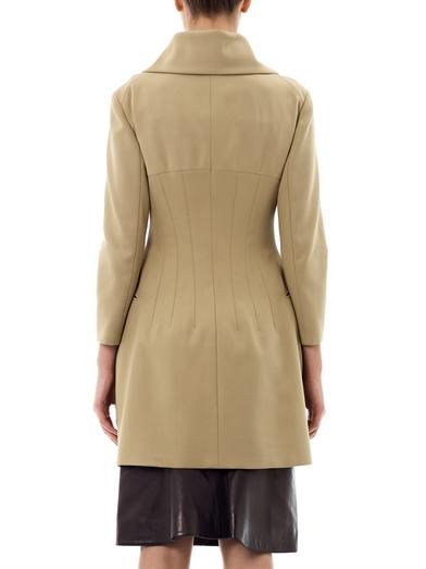 Alexander McQueen Tailored cotton-twill coat
