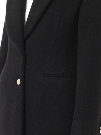 Alexander McQueen Single-breasted wool-blend coat